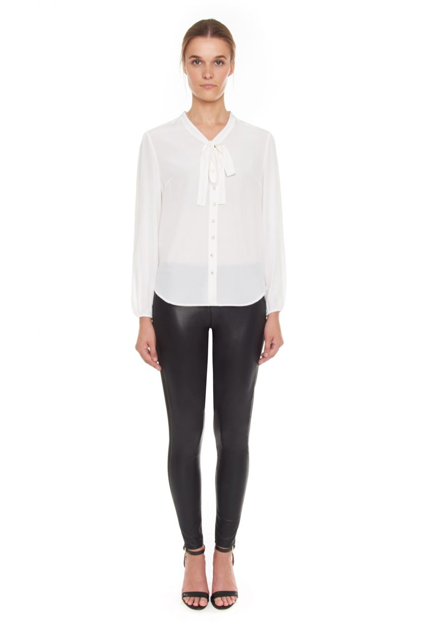 Carlo Felice ottico bianco silk blouse white