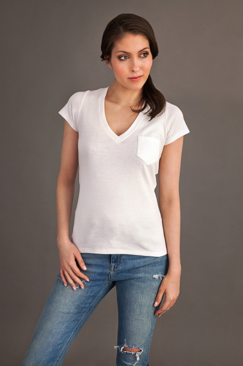 Carlo Felice white t-shirt with pocket