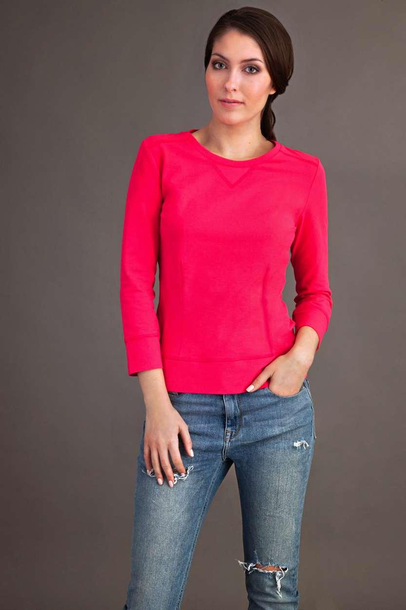 Carlo Felice raspberry pink top