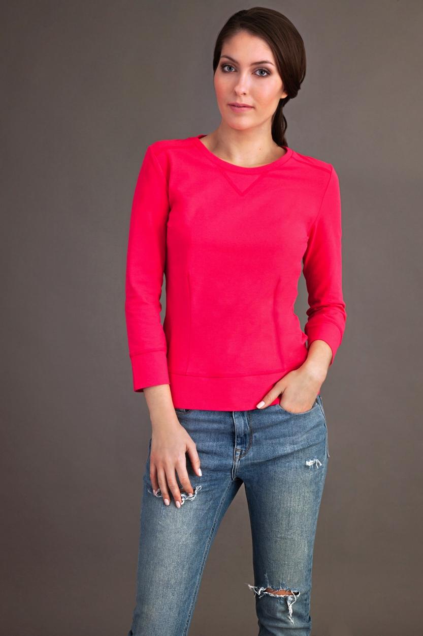 Carlo Felice raspberry organic cotton pink top