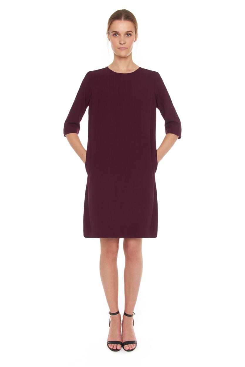 Carlo Felice Merlot wool dress