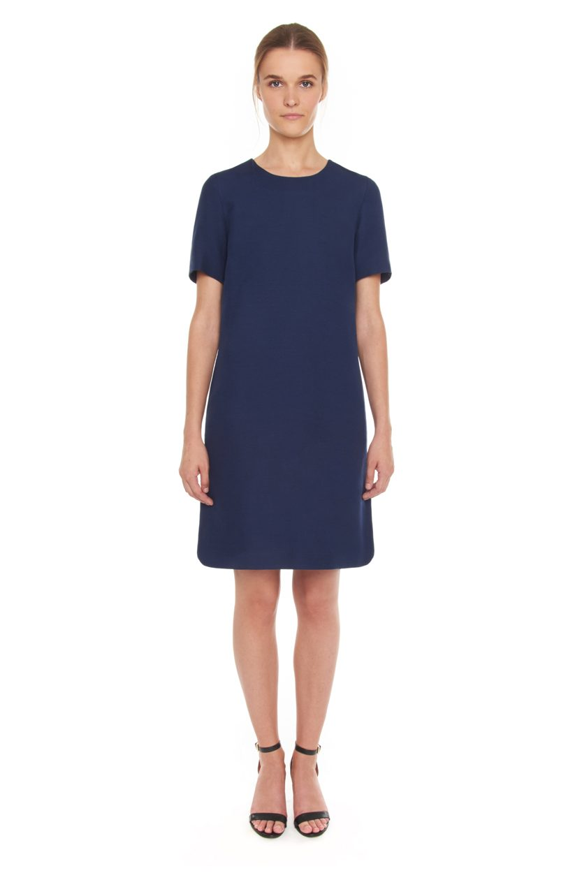 Carlo Felice silk wool little blue dress