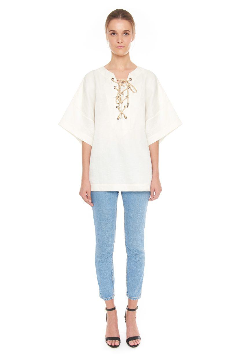 Carlo Felice silk linen kimono resortwear