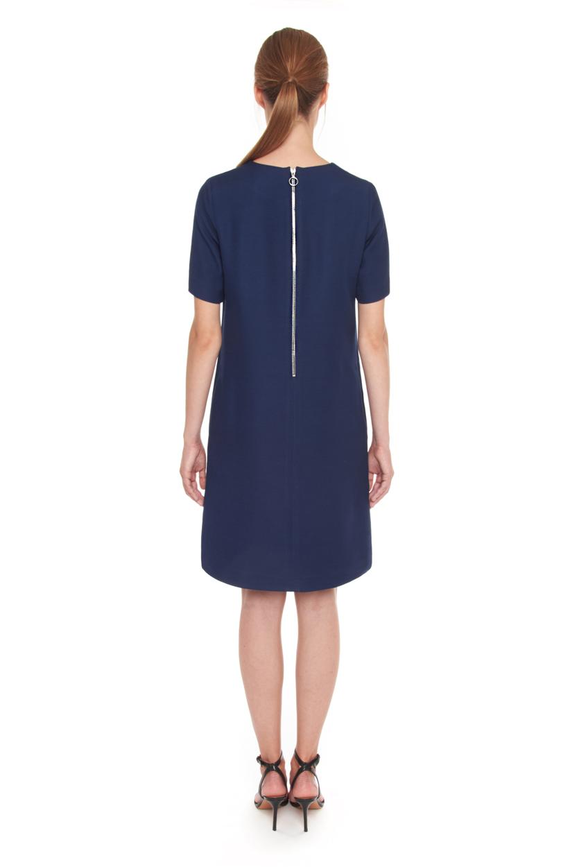 Carlo Felice silk wool little blue dress