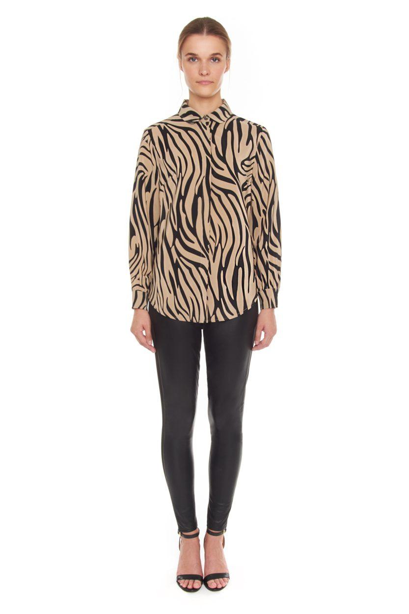 Carlo Felice Zebra silk blouse