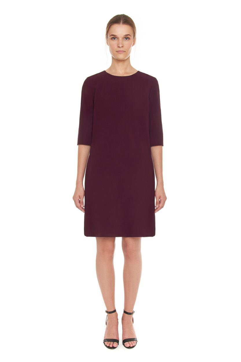 Carlo Felice Merlot wool dress