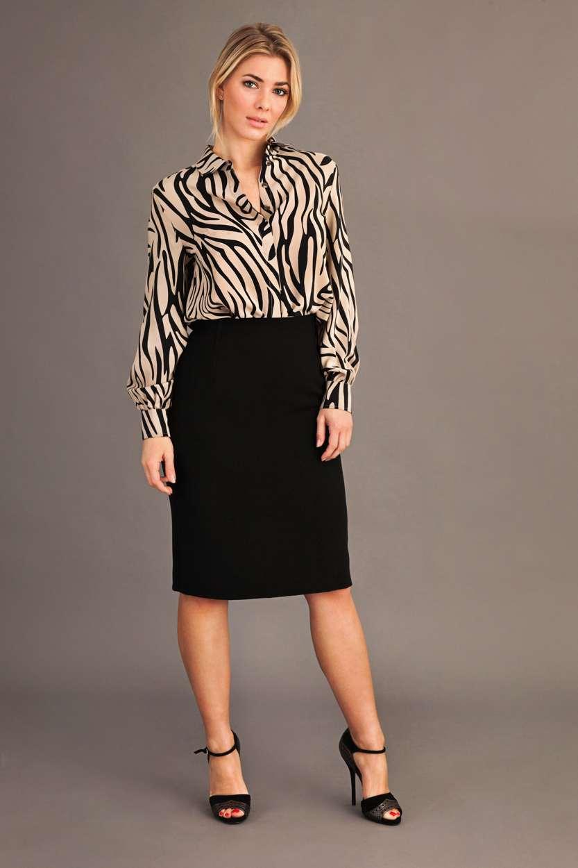 Carlo Felice ultimate pencil skirt black