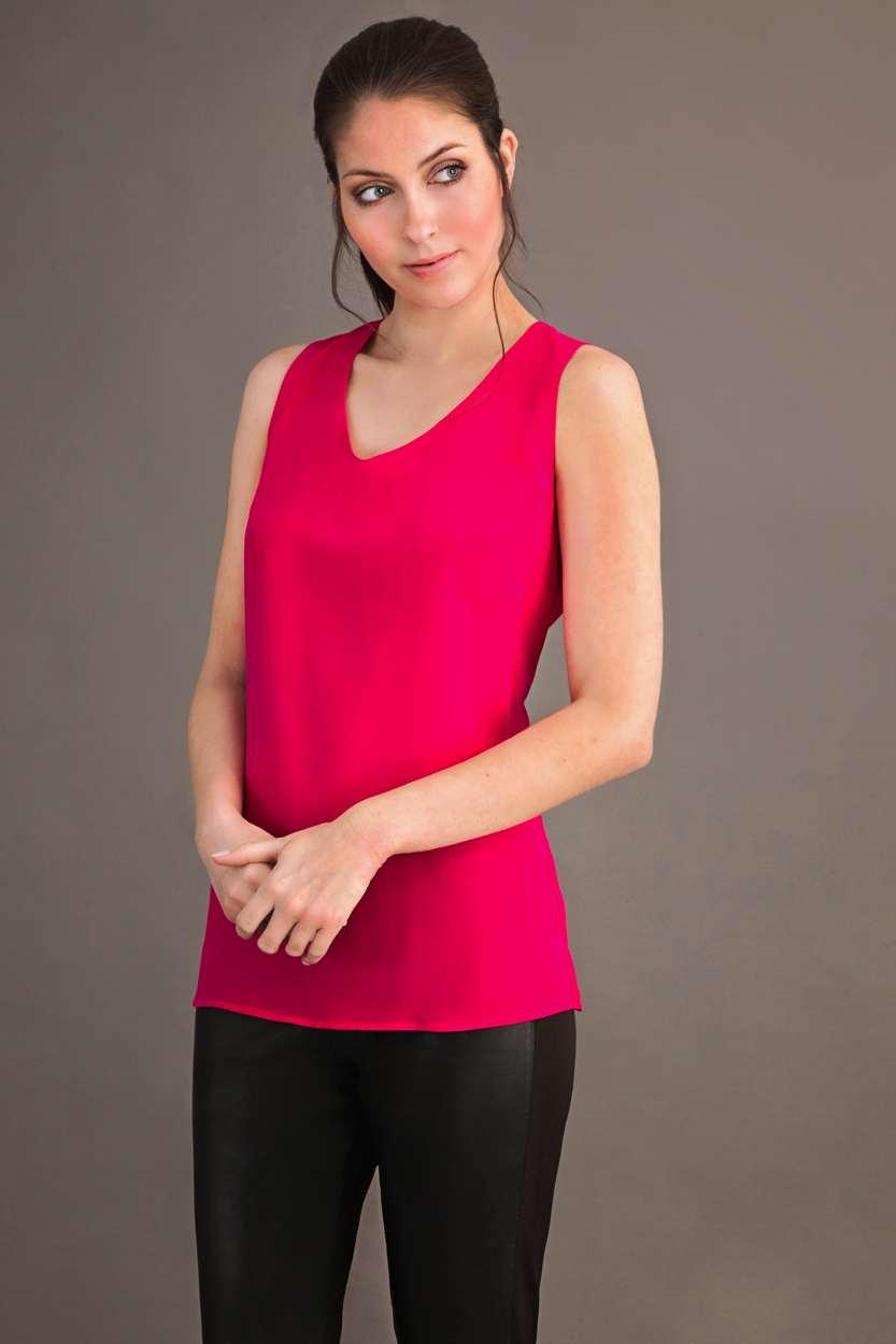 Carlo Felice fuxia pink top
