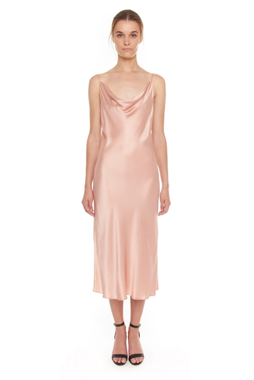 Carlo Felice Anna slip-on Italian satin silk dress