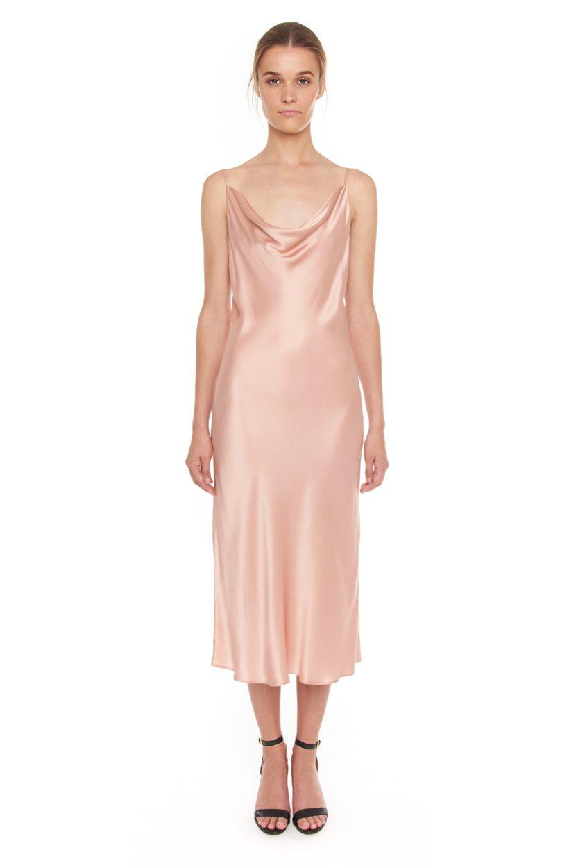 Carlo Felice Anna slip-on Italian satin silk dress