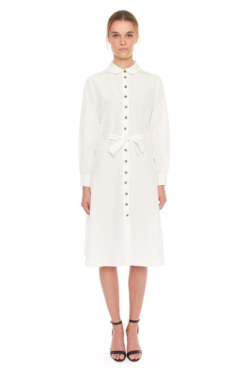 Carlo Felice shirt dress Italian silk with buttons