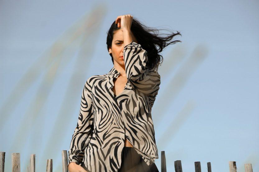 Carlo Felice Zebra printed silk shirt