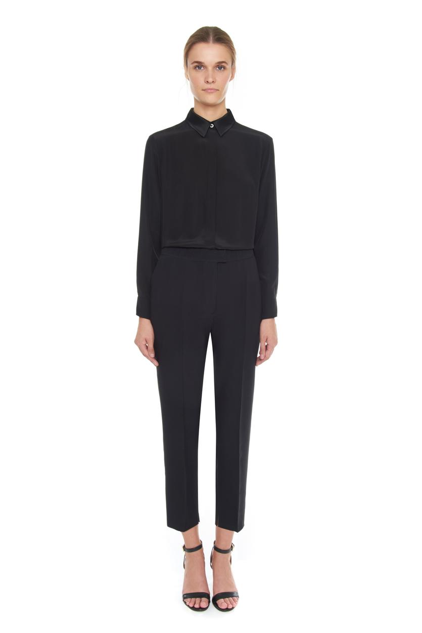 Carlo Felice silk wool trousers